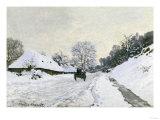 Route in the Snow near Honfleur  c1867