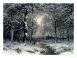 Wooded Winter Landscape  c1899
