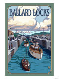 Ballard Locks and Boats  Seattle  Washington