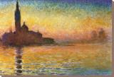 Saint-Georges Majeur au crépuscule Tableau sur toile par Claude Monet