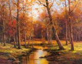 Meadow Stream Reproduction d'art par T. C. Chiu