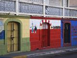Colorful Town Shop Fronts  Isabela Segunda  Vieques  Puerto Rico