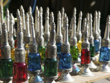 Perfume Bottles  the Souqs of Marrakech  Marrakech  Morocco