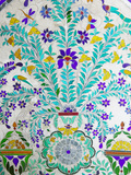 Decorated Tile Painting at City Palace  Udaipur  Rajasthan  India