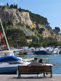 Fishing and Leisure Boats Moored at the Key Side  Harbour in Cassis Cote d'Azur  Var  France