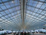 Glass Ceiling Interior of Charles de Gaulle International Airport  Paris  France