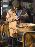 Man at Truffles Market in Carpentras  Vaucluse  France