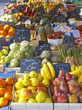 Market Stalls with Produce  Sanary  Var  Cote d'Azur  France