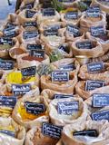 Street Market  Merchant's Stall  Provencal Spices  Sanary  Var  Cote d'Azur  France