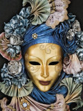 Venetian Paper Mache Mask Worn for Carnivals and Festive Occasions  Venice  Italy
