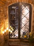 Wine Cellar with Bottles Behind Iron Bars  Stockholm  Sweden