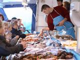 Street Market  Merchant's Stall with Fish  Sanary  Var  Cote d'Azur  France