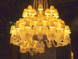Crystal Chandelier  Baccarat Museum Shop and Restaurant  Hotel De Noailles  Paris  France