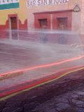 Bar San Miguel Entrance with Car Taillights  San Miguel De Allende  Mexico