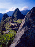Scenic View of the Ruins of Machu Picchu in the Andes Mountains  Peru