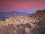 First Light on Zabriskie Point  Death Valley National Park  California  USA