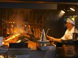 Charcoal Grill in Restaurant El Palenque  Mercado Del Puerto  Montevideo  Uruguay