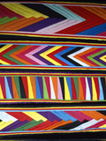 Bold Colors in Fabric Design in Market  Chinceros  Peru
