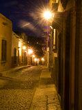 Street Scene Before Sunrise  San Miguel De Allende  Mexico