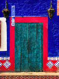 Detail of Colorful Wooden Door and Step  Cabo San Lucas  Mexico
