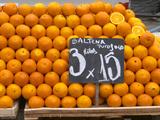 Street Market Stall Selling Oranges  Saltena Puo Jugo  Montevideo  Uruguay