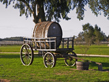 Horse Drawn Carriage Cart and Wooden Barrel  Bodega Juanico Familia Deicas Winery  Juanico