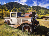 Old International Pickup Near Lake City  Colorado  USA