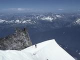 Climbers on Glacier Peak  North Cascades  Washington  USA
