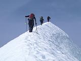 Climbers on Eldorado Peak  North Cascades National Park  Washington  USA
