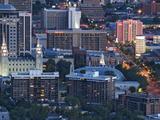 Late Afternoon Light on Mormon Temple Square  Salt Lake Temple and Tabernacle  Salt Lake City