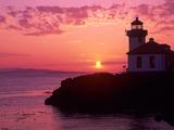 Lime Kiln Lighthouse  Entrance to Haro Strait  San Juan Island  Washington  USA