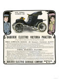 Early Electric Car Advertisement for the Babcock Electric Victoria Phaeton  c1907