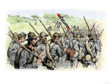 Confederate Troops on the March  American Civil War