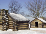 Continental Army Soldiers' Cabins Reconstructed at Valley Forge Winter Camp  Pennsylvania