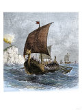 Danish Viking Ship  Raven  at Sea