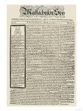 The Massachusetts Spy Newspaper  on the First Anniversary of the Boston Massacre  c1771