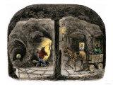 Tunnel in a California Mine  c1850