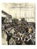 Pandemonium in the New York Gold Room on Black Friday  September 24  c1869