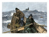 Fishermen in a Dory on the Grand Banks Off Newfoundland  c1880