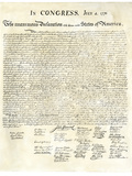 American Declaration of Independence  c1776