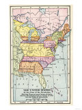 Map of the United States at the Close of the American Revolution  c1783
