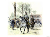 General Robert E Lee Leaving the McLean House after the Confederate Surrender at Appomattox