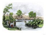 Town of Marysville  California  during the California Gold Rush  c1850