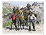 Prospectors Looking for New Diggings during the Gold Rush  c1850