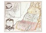 Land of Canaan, c.1750 Reproduction d'art par Robert De Vaugondy