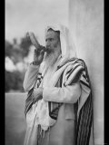 Rabbi Blowing the Shofar Reproduction photo