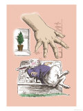 Alice in Wonderland: The White Rabbit and Alice's Big Hand