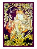 Lierre Reproduction d'art par Alphonse Mucha