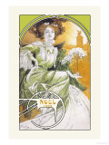 Noel 1903 Reproduction d'art par Alphonse Mucha