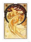 Danse Reproduction d'art par Alphonse Mucha
